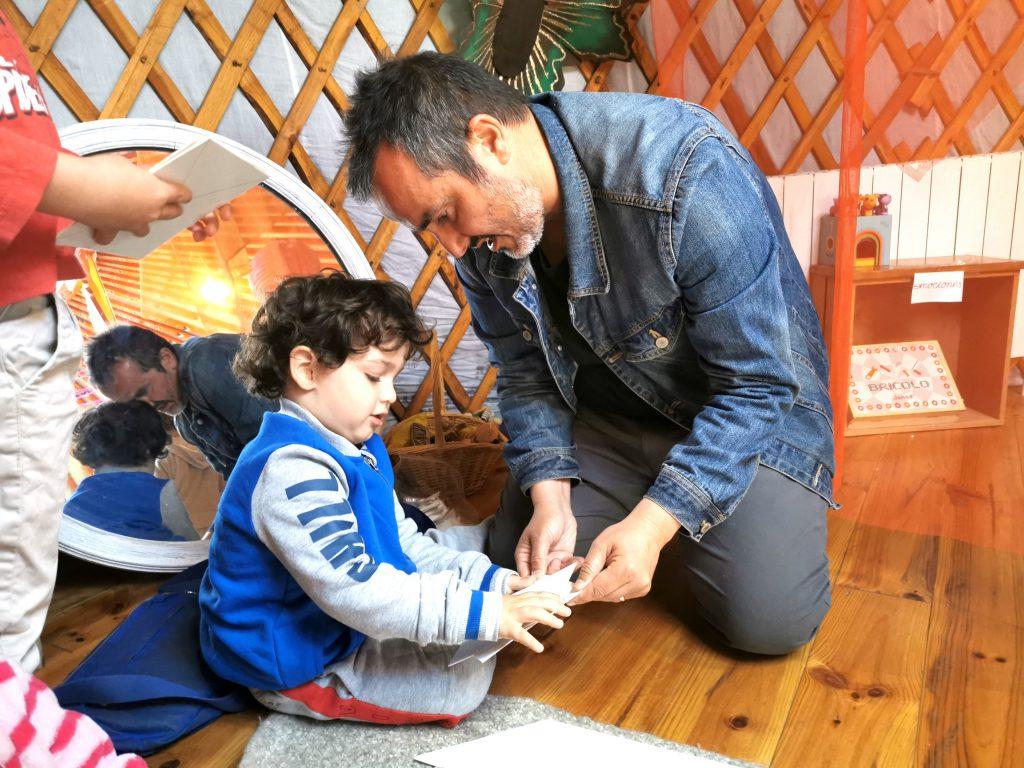 tiempo para niños y padres cercanos a la naturaleza