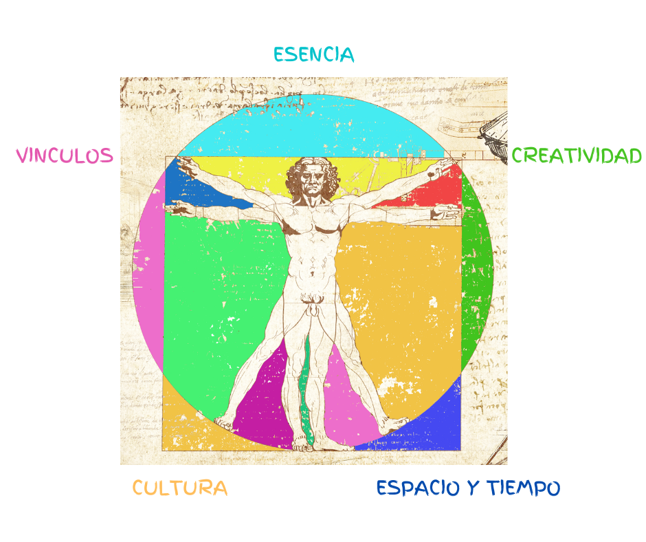 Leonardo Da Vinci human de colores